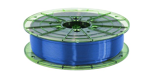 PETG FILAMENT, 3D PRINTING, LEAPFROG, translucent blue