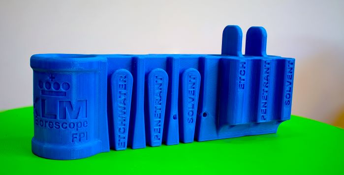 KLM bore 3D printed part, Leapfrog 3D printers, Bolt Pro 3D printer