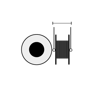 Filament Spool Width Diameter