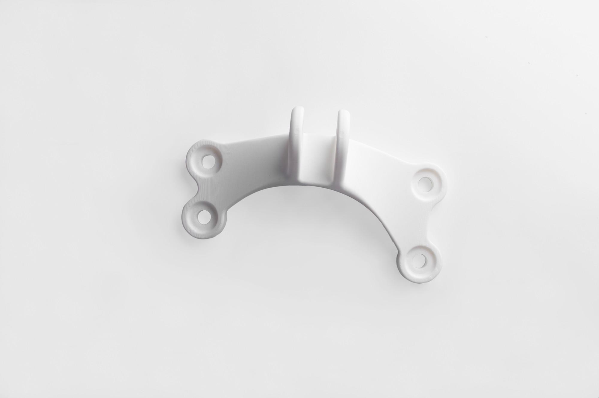 Topology Optimised 3D printed Bracket above